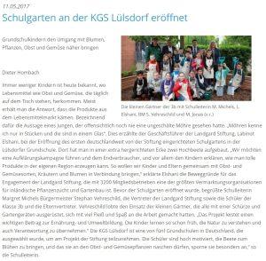 MOZ - Eröffnung des Schulgartens